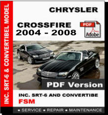 2004 chrysler crossfire factory service manual